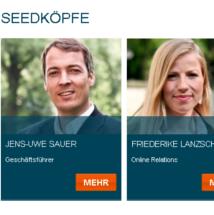 Seedkoepfe Seedmatch Jens-Uwe Sauer und Friederike Lanzsch