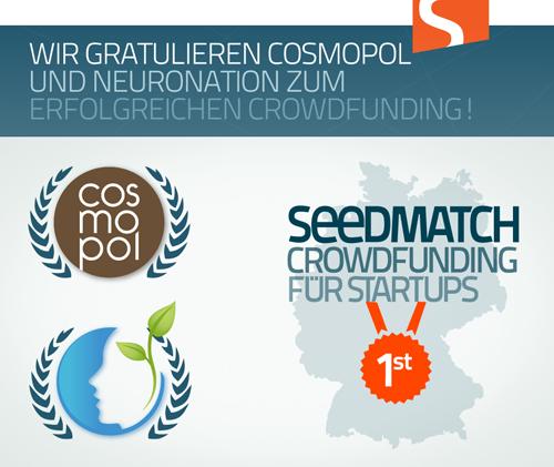 Crowdfunding Erfolg - Startups bei Seedmatch