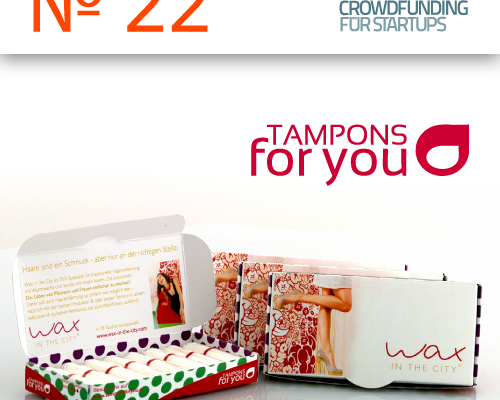 Das Startup TAMPONS FOR YOU im Preview auf der Crowdfunding-Plattform Seedmatch