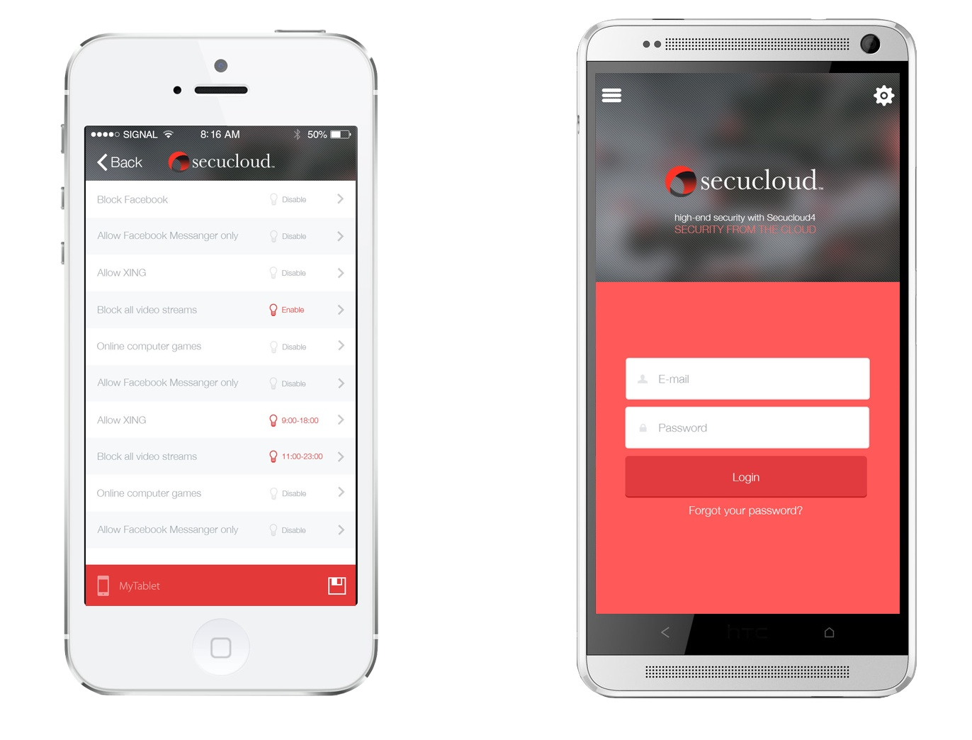 secucloud mobile app