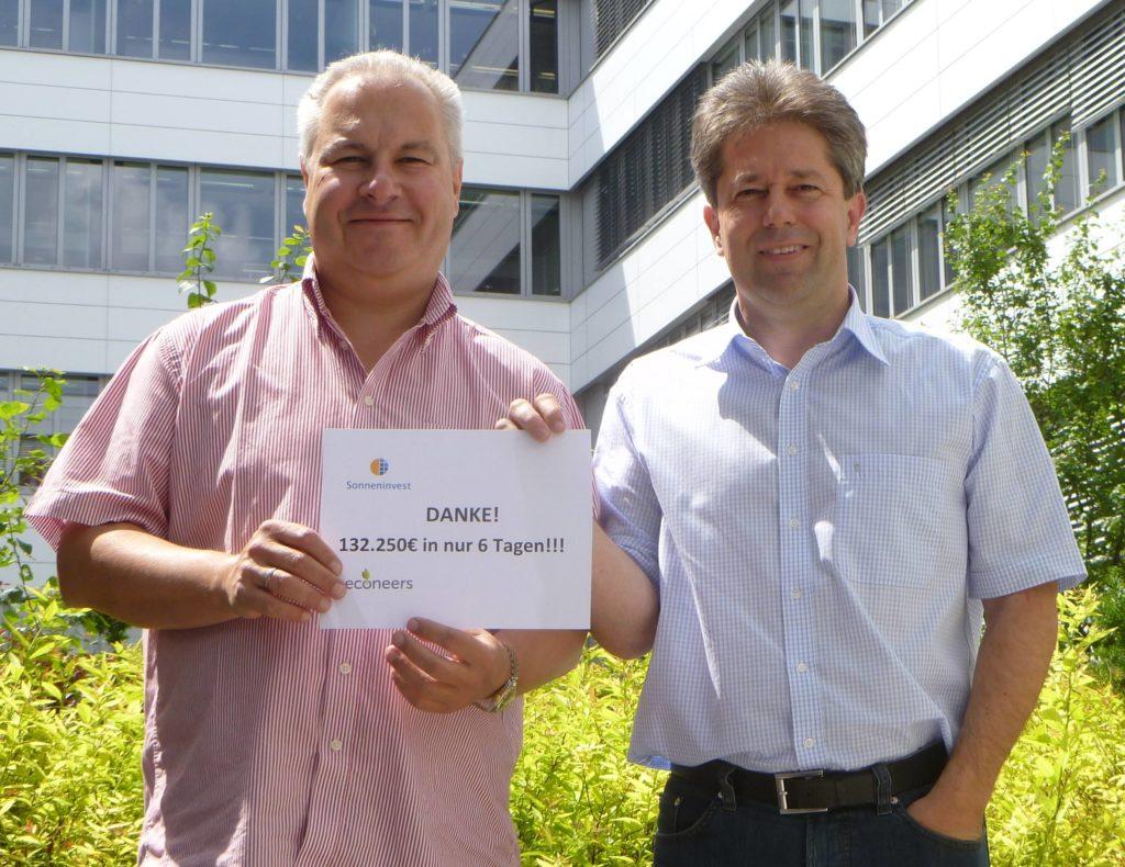 Die Solarparkbetreiber Harald Schüll und Michael Richter.