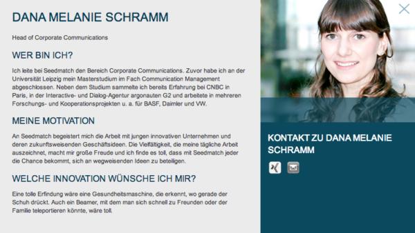 Head of Corporate Communications Dana Melanie Schramm