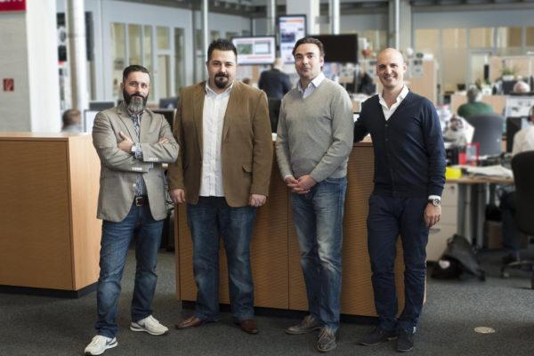 Team Seeding Alliance v.l.n.r.: Coskun Tuna, Cevahir Ejder, Thomas Vogt, Marcel Hollerbach
