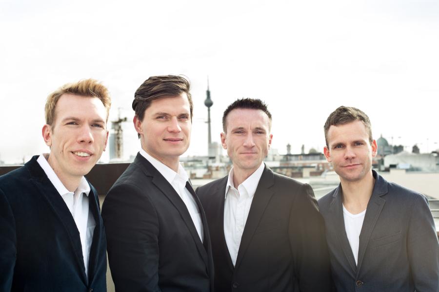 Die Cashboard-Gruender Robert Henker, Marius Schulze, Stephan Henker, Andre Holdschick (v. l. n. r.).