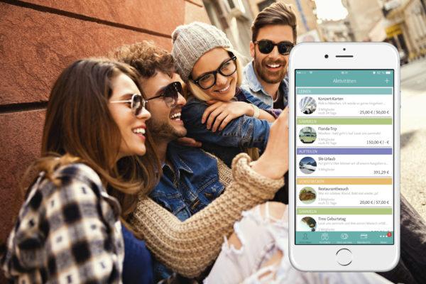 Freunde nutzen die Lendstar App