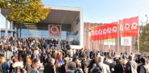 Blick auf die Anuga-Messe