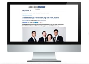 Anschlussfinanzierung: myCleaner bei Gründerszene
