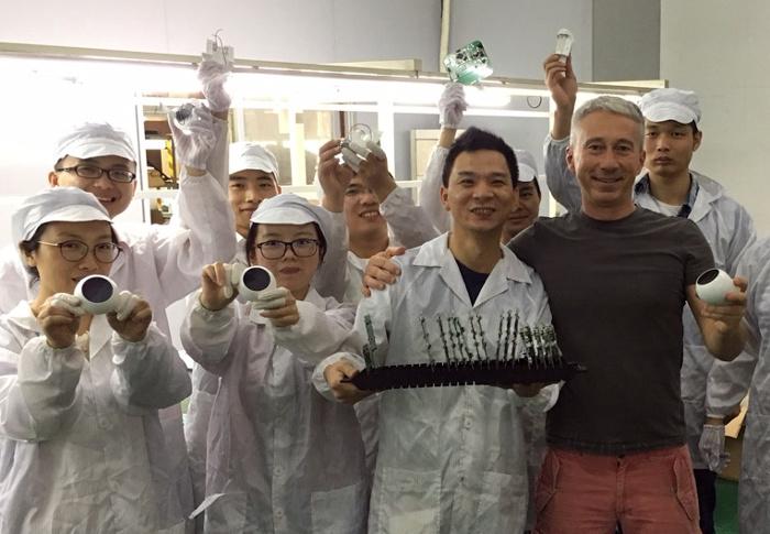Der eCozy-CEO besucht die Produktion in China