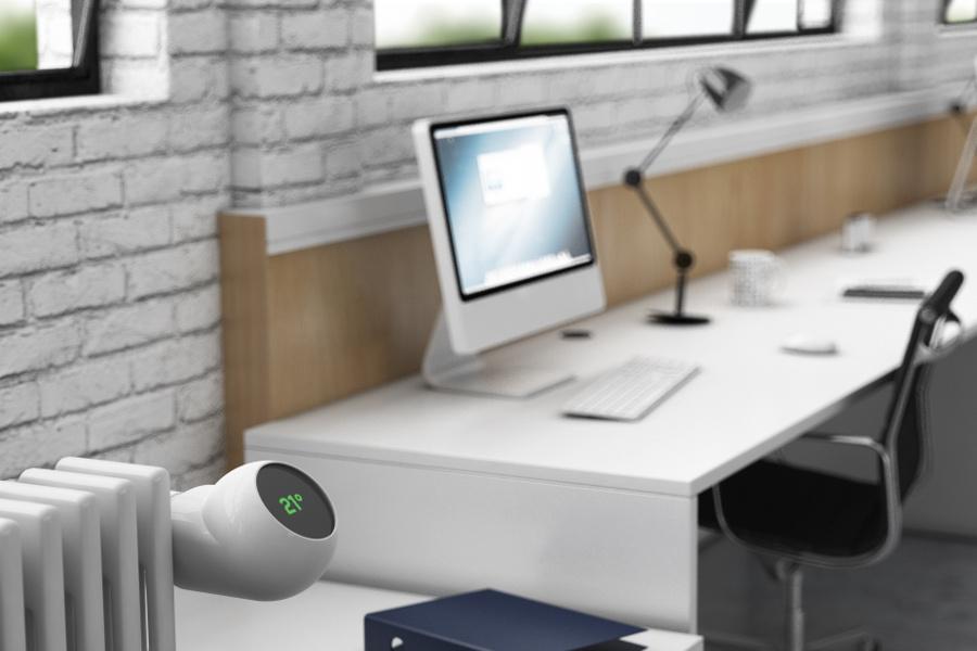 Thermostat im Büro von eCozy – einem Startup bei Seedmatch