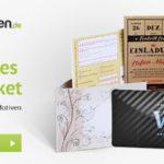 Kostenloses Musterpaket von Kartenmachen.de bestellen
