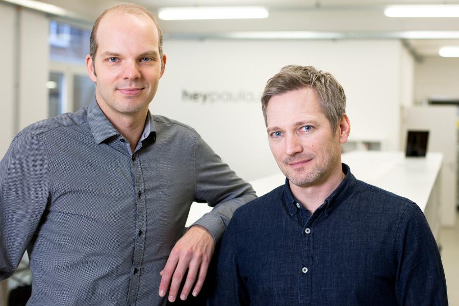 Marcel Brindöpke (l.) und Florian Curdt (r.) – Gründer und Geschäftsführer von heypaula, einem Unternehmen bei Seedmatch.