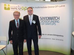 Gründer und Geschäftsführer von webOP: Prof. Heiss (l.) und Guido Gruhn (r.)