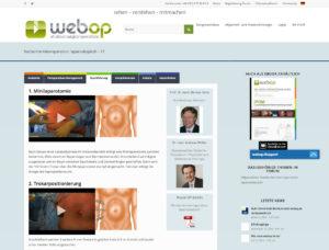 Die Website von webOP – ein Startup bei Seedmatch.