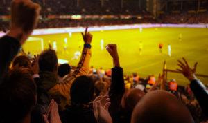 Emotionen im Fußball-Stadion