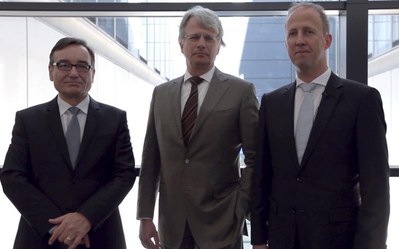 Die Gründer von Rodos Biotarget: Dr. Gieseler-von der Crone, Dr. Rupert und Dr. Furch (v. l.).