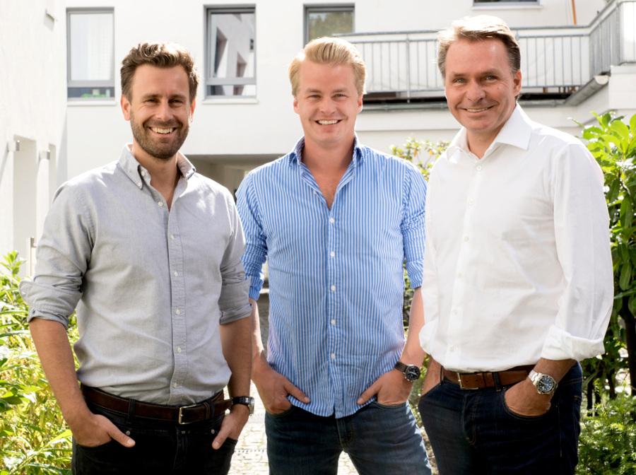 Die moovin-Gründer (v. l.) Arne Schubert (CMO), Fabian Mellin (CEO) und Axel von Zimmermann (CFO).