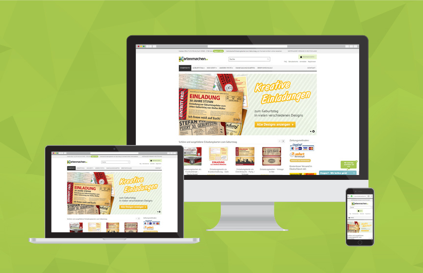 Website von Kartenmachen.de